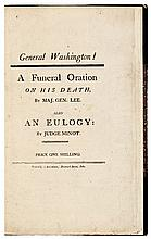 Famous FUNERAL ORATION On the Death of GEORGE WASHINGTON by Major Gen. Henry Lee
