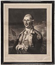 Rare 1897 GEORGE WASHINGTON Engraving from James Peale Painting