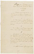 c. 1797 NAPOLEON BONAPARTE Pair of Manuscript Documents Undated + Unsigned