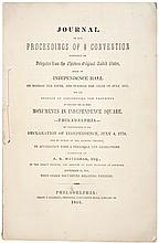 1853-Dated, Imprint regarding Monuments in INDEPENDENCE SQUARE