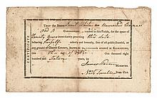 1816 A Minister's Unmarried Woman's CERTIFICATE of PURITY