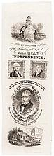 1840 William Henry Harrison Campaign Ribbon, Paper Die Proof