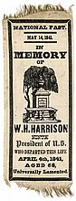 1841 William Henry Harrison Silk Memorial Ribbon Rare Design Type