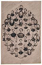 c. 1864 Civil War Carte de Visite Photograph: Officers 10th U.S.C. Artillery