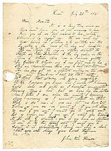 1840 Letter Regarding - Politicks and the Log Cabin of Tip and Tyler