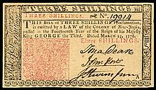Colonial Currency, JOHN HART Signed GEM March 25, 1776 New Jersey Note