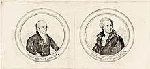 1824 Presidential Campaign Engraved Proof Portraits of J.Q. ADAMS-Andrew Jackson