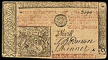Colonial Currency, New Jersey. April 8, 1762. Three Pounds Note Choice Very Fine
