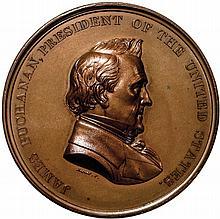1860-Dated. First Japanese Embassy Medal. U.S. Mint. Bronzed. Julian CM-23. Gem
