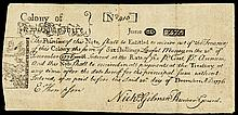 New Hampshire June 20, 1775 Six Shillings PAUL REVERE Engraved Copperplate Note