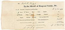 1852, Partially-Printed Official Receipt For Taxes Paid On Slaves