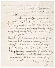 GIDEON WELLES, 1864 Civil War Letter Signed, Secretary of Navy