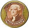 Encased Postage Stamps, 5¢, Ellis McAlpin & Co. Cincinnati. Rarity-8