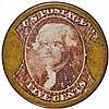 Encased Postage Stamp, 5¢, J. GAULT. Plain Frame