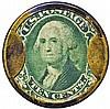 Encased Postage Stamp, 10¢, GAGE BROTHERS & DRAKE, Tremont House, Plain Frame
