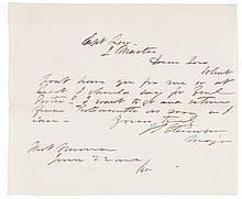 1865 Lincoln Assassination Period Letter to the Quartermaster at Fortress Monroe