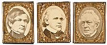 THREE Gem Images Salmon P. Chase, Edward Everett and William Dayton c. 1860
