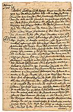 Black History. ROBERT LURTING. Dutch Mayor of NYC (1726-1735). Letter Signed