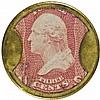 Encased Postage Stamps, 3¢, BURNETTS COCOAINE KALLISTON