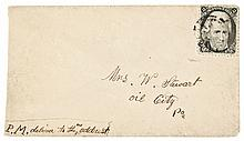 Rare Union and Constitution, Postally Used Cover with Embossed Patriotic Design