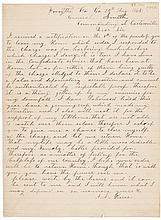 August 25, 1864-Dated Civil War Period, Autograph Letter Signed, A.J. Pierce