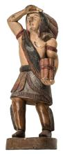 Vintage Decorative Countertop Cigar Store Indian Hand-Painted Wood 23.75