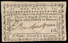 Colonial Currency, ELIAS BOUDINOT Continental Congress President, Signed Note