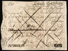 Colonial Currency, South Carolina. May 1, 1775 HENRY MIDDLETON Signed PCGS EF-40