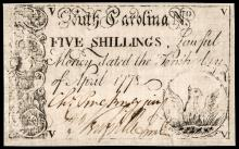 Colonial Currency, CHARLES PINCKNEY, JR. Signed South Carolina. April 10, 1778.