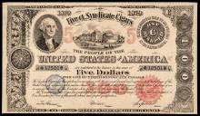 Advertising Note, Federal Bond $100 Mimic, the Vlack Plate Note