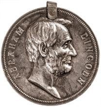 (1886) SILVER ABRAHAM LINCOLN PRESIDENTIAL Commemorative US Mint Medal NGC Cert.