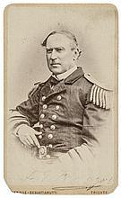 Carte de Visite Photo Signed ADMIRAL DAVID FARRAGUT Civil War Navy Commander