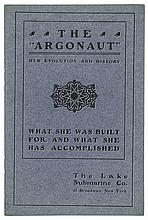 THE ARGONAUT HER EVOLUTION AND HISTORY, Lake Submarine Co. + Stock Certificate