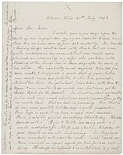 Abolitionist JOHN BROWN, Rare 1852 Autograph Letter Signed to His Son John