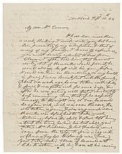 First Lady ANNA HARRISON -1844 Autograph Letter Signed