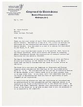 GERALD FORD + BETTY FORD Lot of Two Letters Signed, One mentions Jimmy Carter!