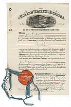 Original BUTLER PROJECTILE Improvement Patent Granted to General John G. Butler