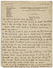 GEORGE WASHINGTON CARVER 1927-Dated Choice Content Autograph Letter Signed