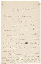 SAMUEL LANGHORNE CLEMENS (MARK TWAIN) Autograph Letter Signed