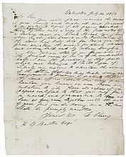 WILBER H. CHERRY, Autograph Letter Signed 1851 Texas Printer and Publisher