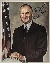 Astronaut JOHN GLENN Signed Classic Color Photo