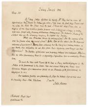 January 26, 1814, JOHN ADAMS ALS to RICHARD RUSH Regarding LAW + The WAR OF 1812