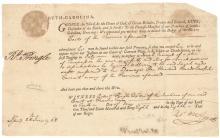 1768 Thomas Bee + Robert Pringle of Charleston, South Carolina Signed Document