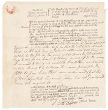 Partially Printed Document Signed NATHANIEL FOLSOM, Member Continental Congress