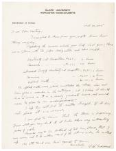 1925 Dr. ROBERT GODDARD Autograph Letter Signed on the Science of Rocketry