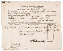 BENJAMIN LINCOLN 1797-Dated Partially-Printed Document Signed