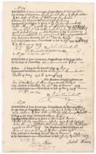 REVEREND JOHN TRUMBULL (1715-1787) CT. Vouchers On Continental Loan Certificates