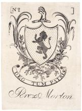 (1784) PAUL REVERE Engraved Bookplate of Perez Morton, Extremely Fine