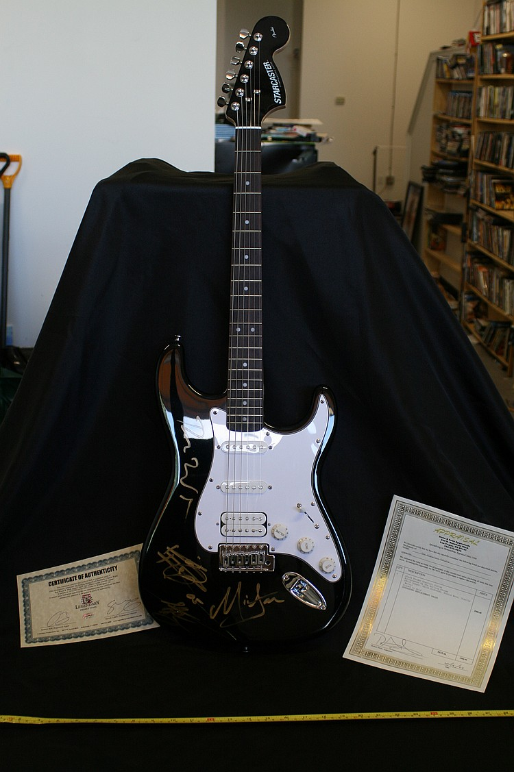 Rolling Stones Autographed Fender Guitar