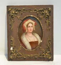 HAND PAINTED PORCELAIN PLAQUE OF